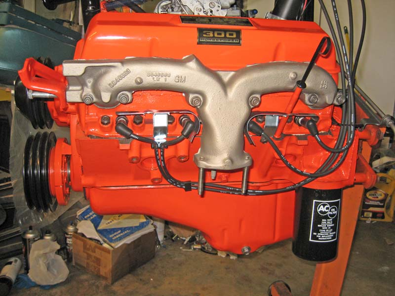 64 impala 327 spark plug wire routing & upper retainers - chevy message  forum - restoration and repair help